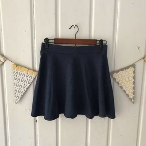 Forever 21 Navy Blue French Terry Circle Skirt
